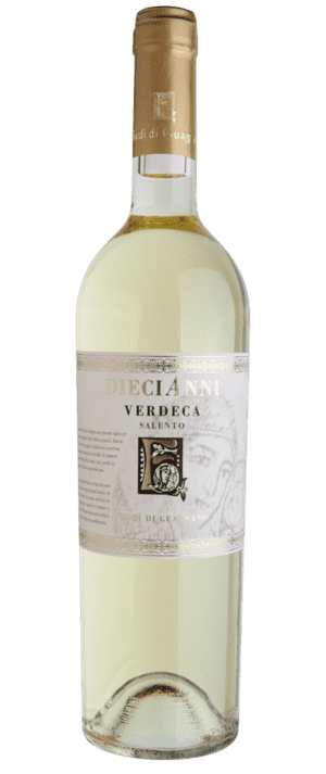 vino bianco diecianni verdeca feudi di guagnano