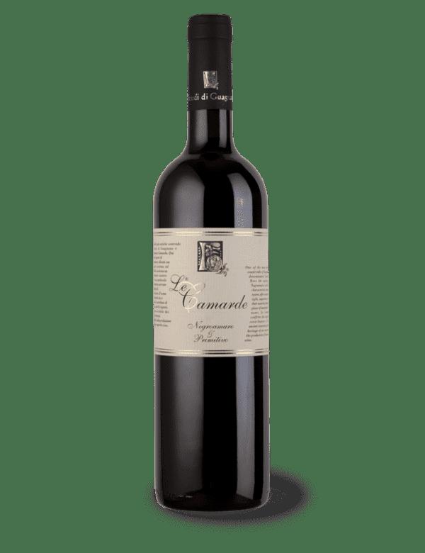 vino rosso le camarde negroamaro primitivo feudi di guagnano prova