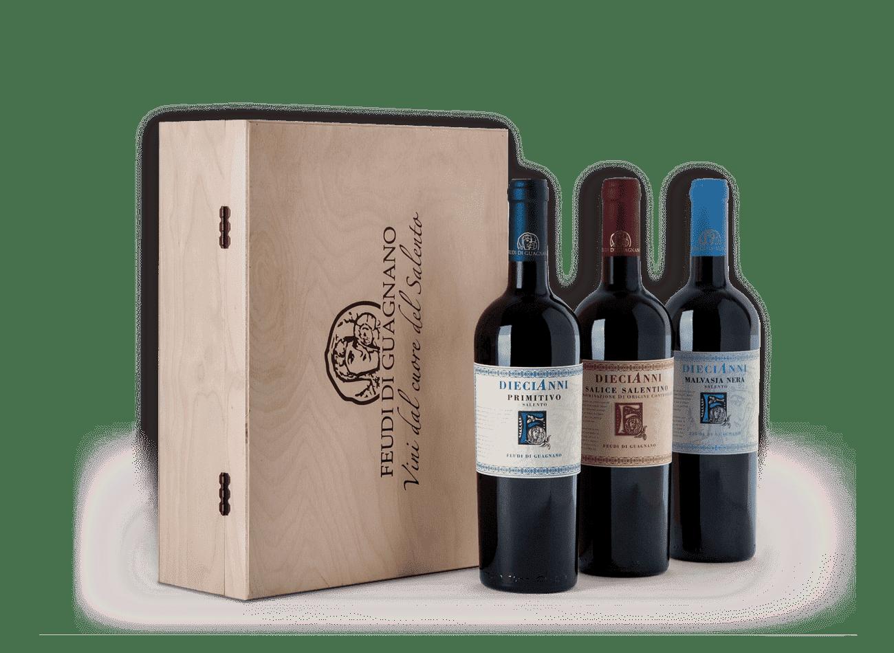 confezione vini feudi di guagnano